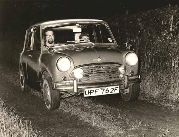 Norman Redhead road rallying a mini